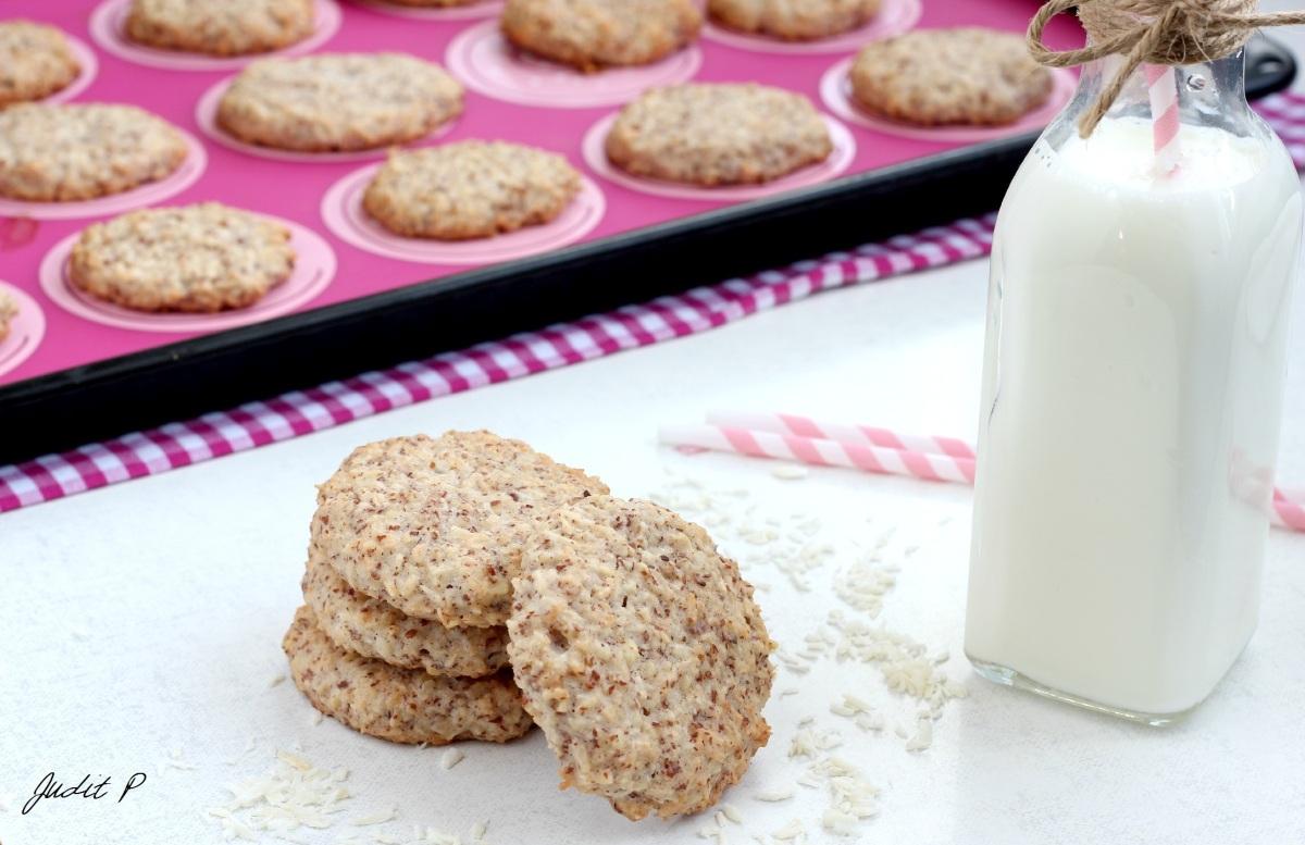 Mandulás-kókuszos keksz (paleo)