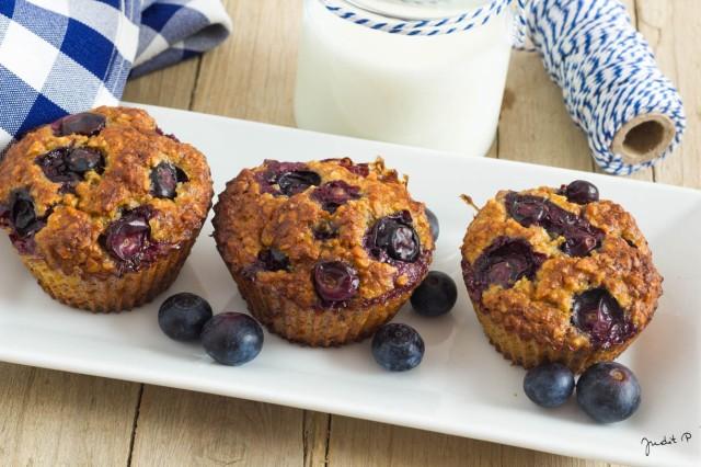 Paleo áfonyás muffin