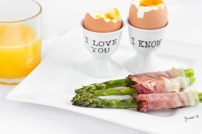 spárga lágy tojás
