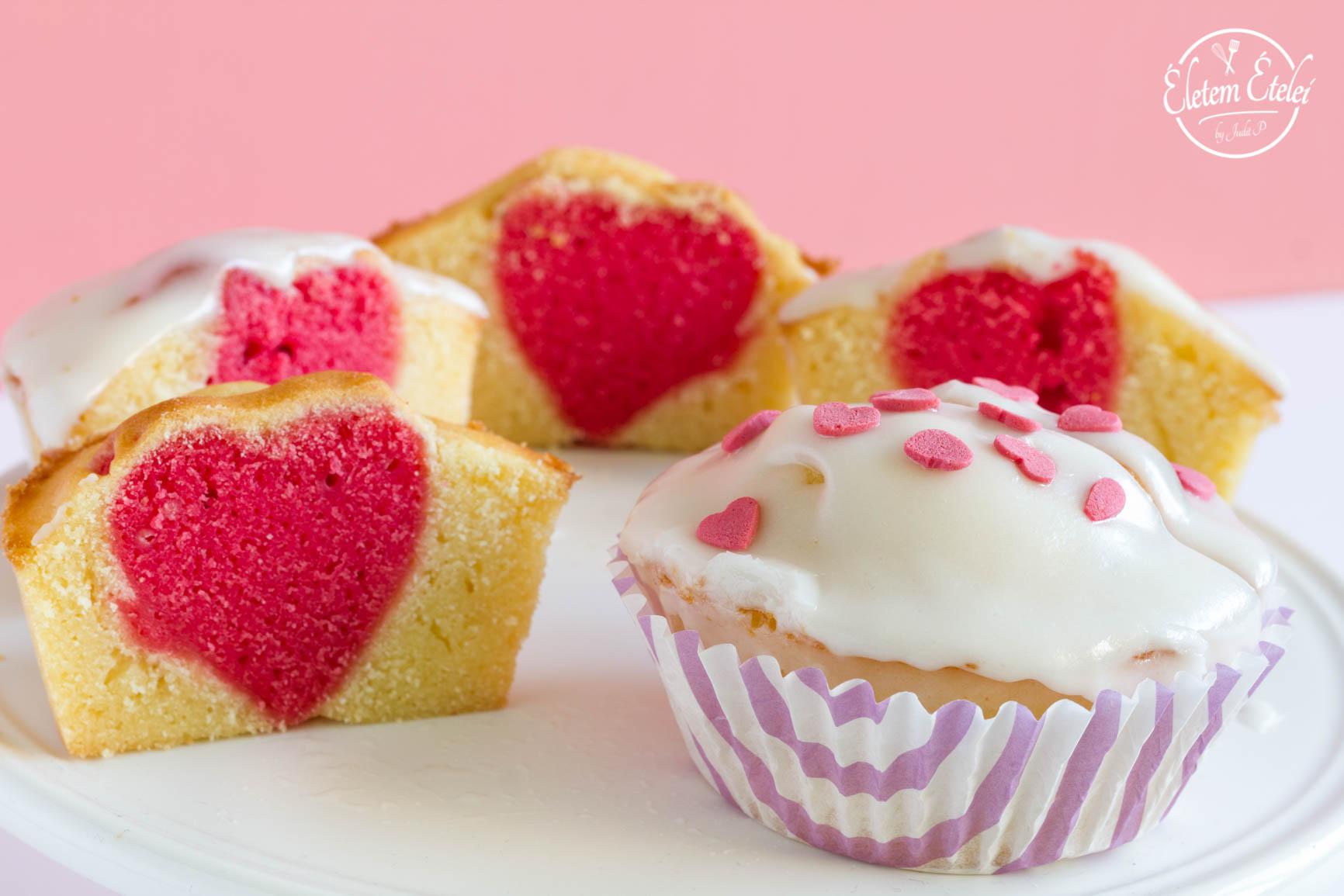 Szív muffinban F
