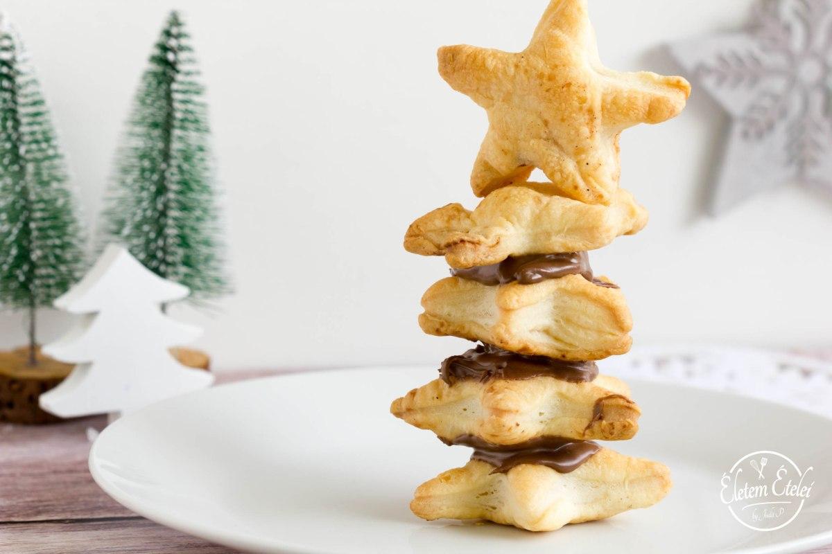 Karácsonyfa leveles tésztából - a legegyszerűbb karácsonyi édesség