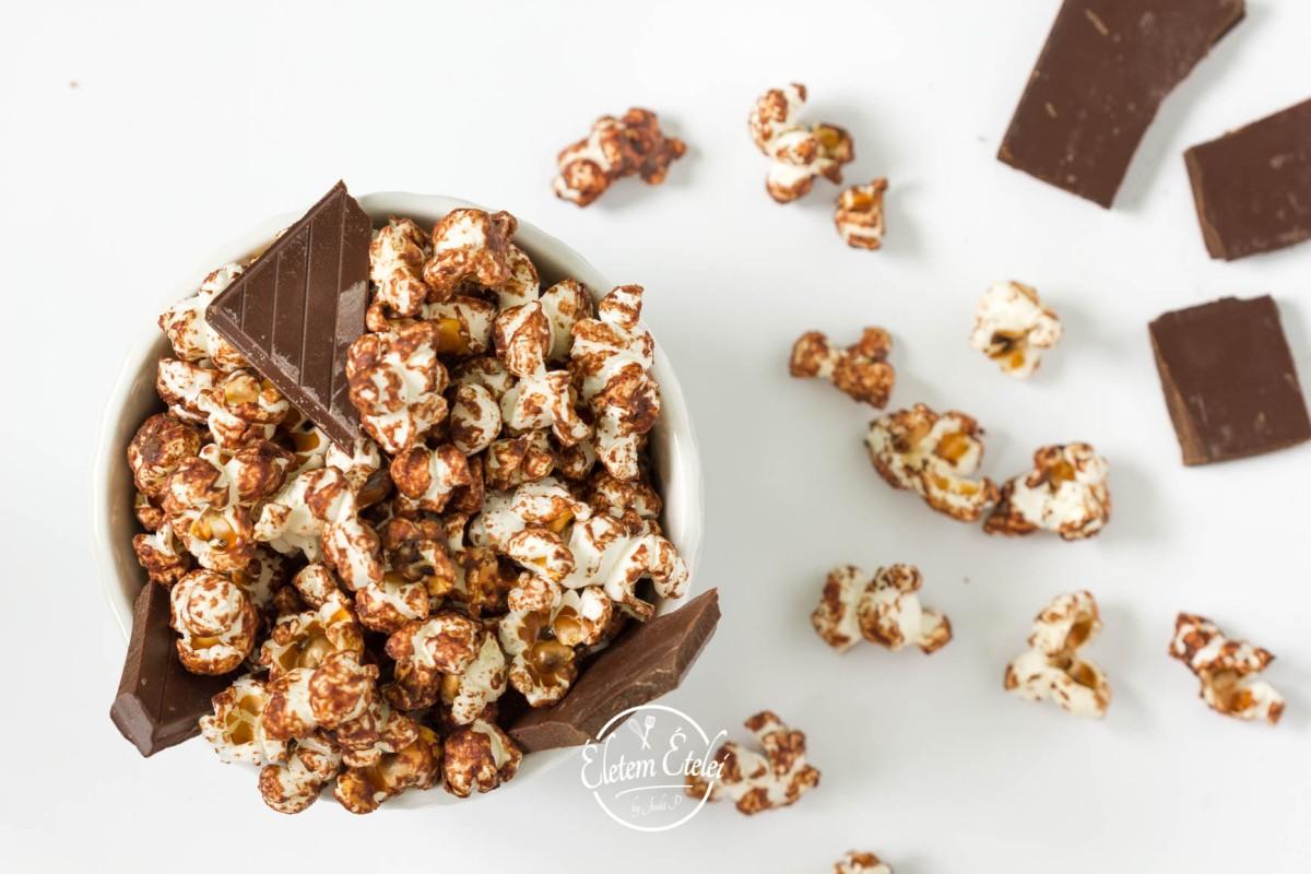Csokis popcorn házilag
