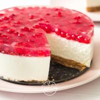 Ribizlis túrótorta sütés nélkül, diétásan