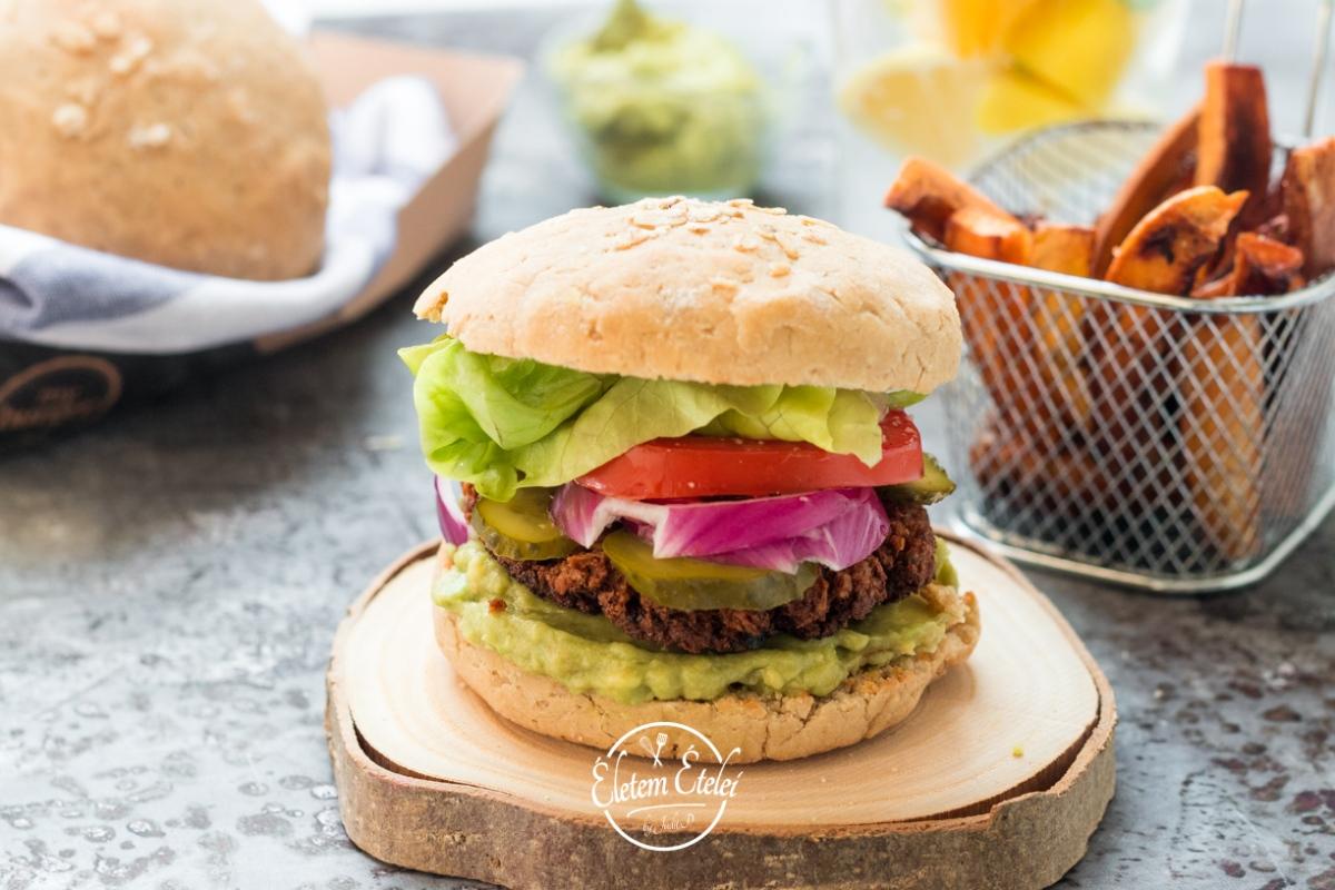 Vegaburger házi zabos zsemléből